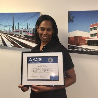 Johnson becomes an accredited Certified Estimating Professional (CEP)