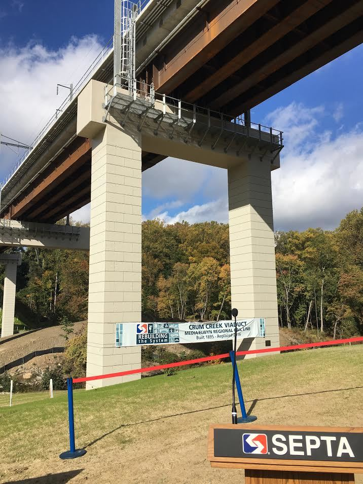 SEPTA, Media/Elwyn Regional Rail Line – Crum Creek Viaduct Replacement