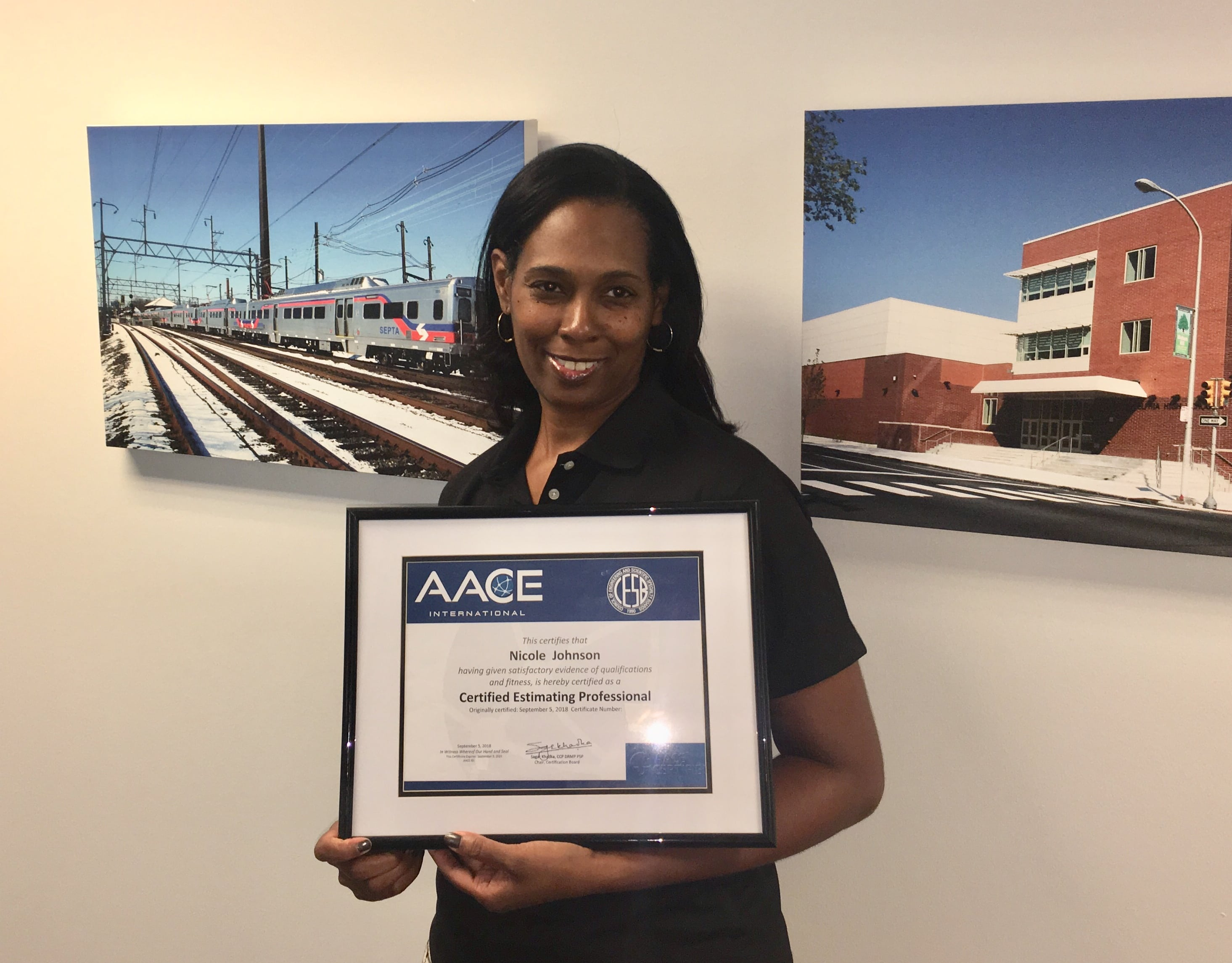 Johnson Becomes An Accredited Certified Estimating Professional Cep