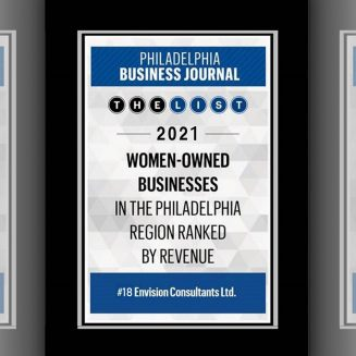 Envision Ranked #18 on the Philadelphia Business Journal's List of Top Women-Owned Businesses